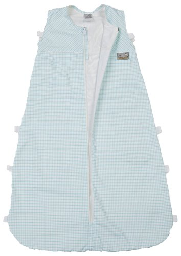 Aro Artländer 876900 Sommer Seiden-Schlafsack 80 cm, Mini Quadrate, türkis