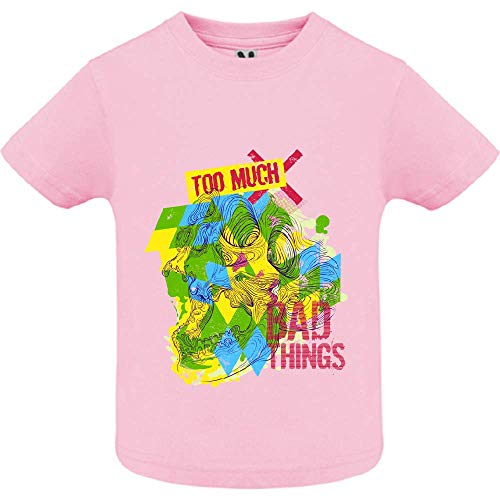 LookMyKase T-Shirt - Bad Things - Bébé Fille - Rose - 2ans