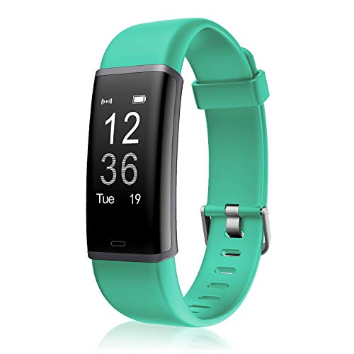 LETSCOM Health and Fitness Tracker with Heart Rate Monitor, Smart Bracelet with Step Counter, Calorie Counter and Call & SMS Notification Activity Tracker Watch for Women Men