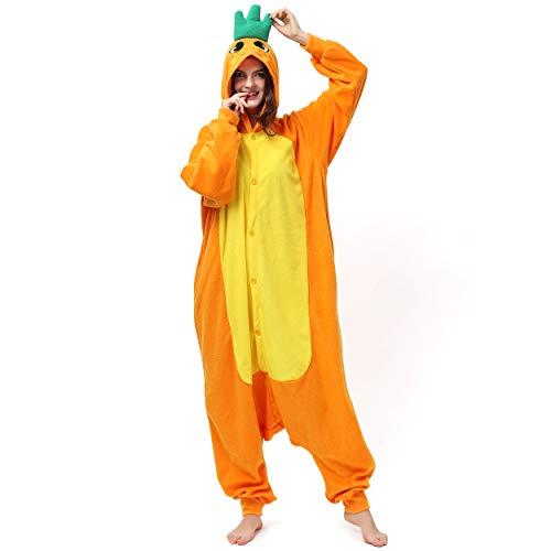 Katara 1744 (30+ Designs) Karotten-Kostüm Möhre, Unisex Onesie/ Pyjama-Qualität für Erwachsene & Teenager
