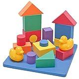 Wonder Blocks Non-Toxic Floating Waterproof Foam Building Blocks...