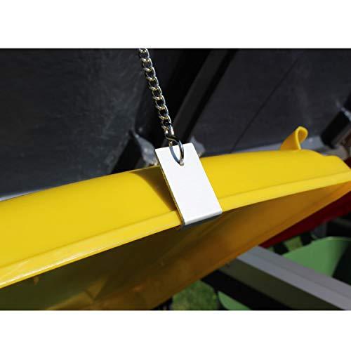 Prewood WPC Mülltonnenbox, Mülltonnenverkleidung für 2x 240l Mülltonne grau // 86x152x127 cm (LxBxH) // Gerätebox, Gartenbox & Mülltonneneinhausung - 5