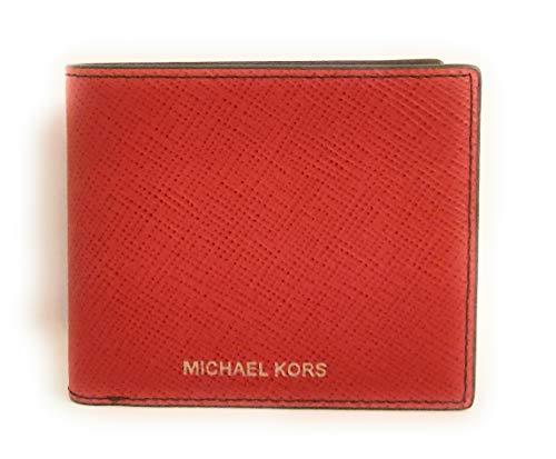 Michael Kors Billetera de Piel para Hombre Harrison Rojo 11x9.5x3cm Nuevo