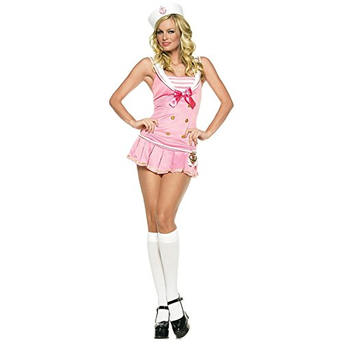 Leg Avenue Costume De Marinette Rose/Blanc Medium/Large