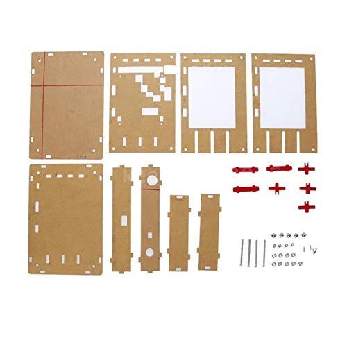 """fengzong Tragbare Acryl-Gehäusekastenschale für DSO138 2,4\""""Dünnschichttransistor-Oszilloskop-Kit DIY Herstellung eines elektronischen Diagnosewerkzeugs (Golden & Gehäuse)"""