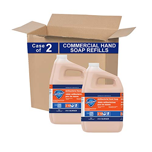 Antibacterial Hand Soap from Safeguard Professional, Bulk Liquid Hand Soap Refill, 1 Gal. (Case of 2)