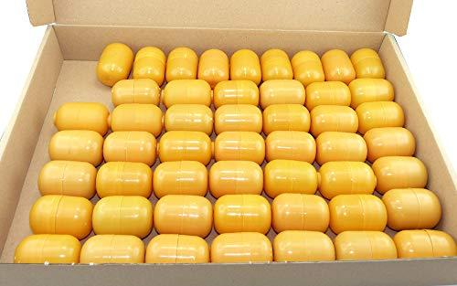 50 orange Kinder Überraschungsei Ei Kapseln (Ü-Eier Kapsel von Ferrero ohne Schokoreste)
