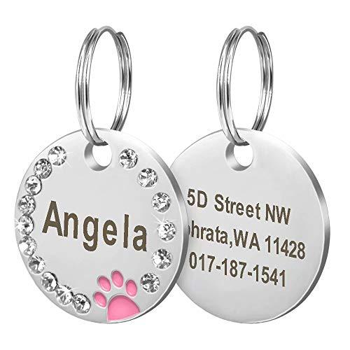 Didog-Etiquetas de identificación para Mascotas,de Acero...
