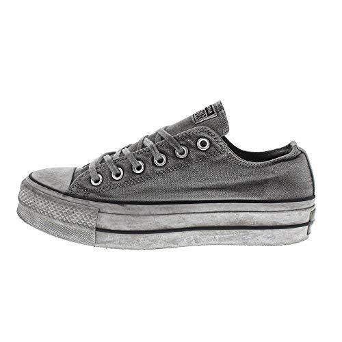 Converse Sneakers Ctas Ox Lift Canvas Ltd Grigio Vintage 563112C (35 - Grigio)