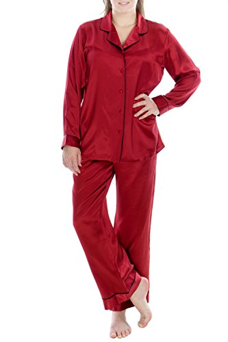 OSCAR ROSSA Women's Luxury Silk Sleepwear 100% Silk Pajamas Set by