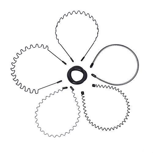 Metall Haarband, Etercycle 5 Stück Unisex Haarbänder Welle Metall Frühling Stirnband, Multi-Stil Haarreifen mit 5 Stück Elastische Haargummis