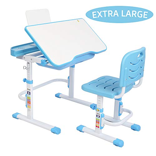 JOYMOR Kids Desk and Chair Set Height Adjustable with Extra Large...