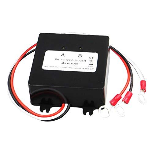 Hellery Ecualizador para Baterías Protección del Sistema Solar de 24 V Balanceador de Voltaje para Autos, Botes, Carritos de Golf, Motocicletas, Solares, Cami