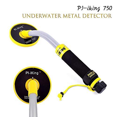 TOPQSC 750 Detector de Metales Subacuático con Vibración e Indicador de Detección de LCD 30M, Detector de Metales Portátil de Caza del Tesoro Impermeable con Tecnología de Inducción de Pulso