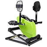 XGYUII Bicicleta Estática Motorizada Telecontrol, con Soporte Y Base para Las Piernas del Monitor, Pedaleador para Personas Mayores/Discapacitados, Entrenamiento De Rehabilitación De Brazos Y Piernas