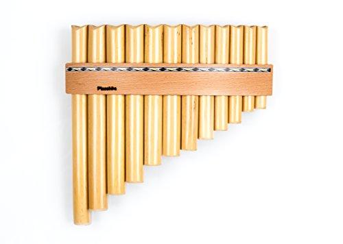 Plaschke Instruments Flauto di Pan con 12 tubi / toni in Do maggiore, fatto a mano in Alto Adige