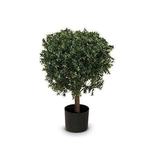 Buchsbaum Kunstpflanze LEON Kunstbaum, Buxbaum, künstlicher Buchsbaum mit Naturstamm in versch. Größen
