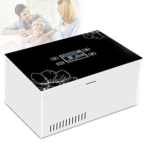 Refrigerador portátil de insulina refrigerado, refrigerador de insulina casero con pantalla LED y espacio de refrigeración Reefer de drogas 2-8°C para viajes coche medicina refrigerador