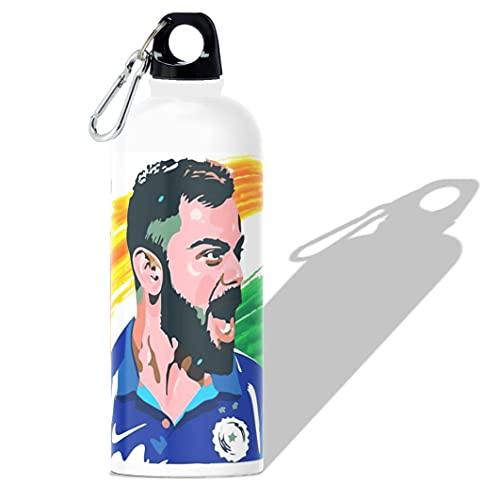 360Edutech, IPL 2021 Virat Kohli Water Bottle Sipper 600ML, Aluminum, for Kids Boys Girls Men & Women, for Camping Cycling Trekking Schooling etc, Ideal for Hot and Cold Beverages, BPA Free, VKSV1