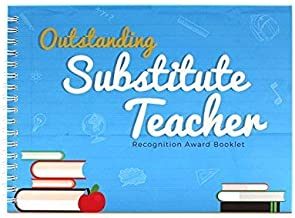 Outstanding Substitute Teacher Edition - Recognition Award Booklet - This Memory Book Contains Funny Designs and Original ...