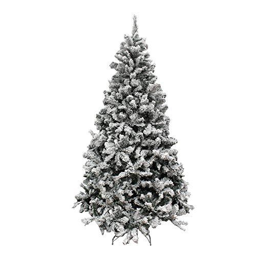 MAURER 5480021 Arbol De Navidad Nevado 210 cm. 1106 Ramas. Hojas De PVC con Nieve Artifical, 210 cms