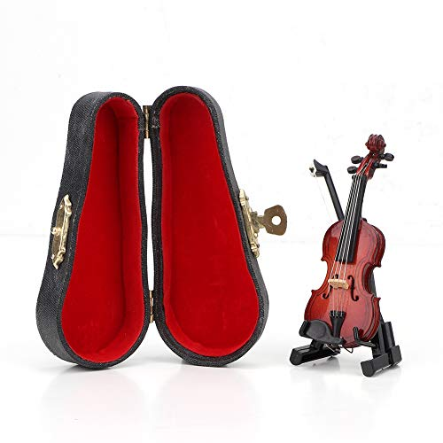 LZKW 1:12 Instrumento en Miniatura Modelo de violín casa de muñecas violín en Miniatura, violín en Miniatura, para niños, Muebles para el hogar, casa de muñecas, Juguetes de simulación, Accesorio