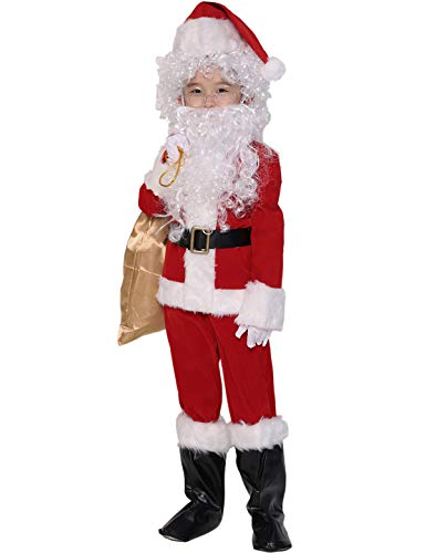 ADOMI Children's Deluxe Santa Suit 10pc. Christmas Child Santa Claus Kids Halloween Costume Cosplay XS