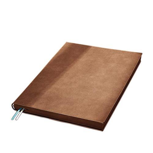 Linjolly Cuaderno A5 Diario Cuaderno Oficina Trabajo Colegio Colegio Estudio Aula Estudio Posgrado Grabar Bloc de Notas, Papel Grueso, Diario Cuaderno Forrado Clásico (Color : Brown)