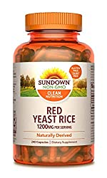 in budget affordable Sundown Red East Rice 1200mg Capsules (240), Natural, Gluten Free, Dairy Free, …