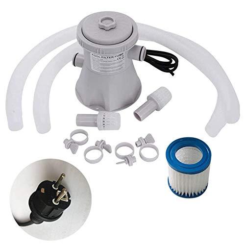 Set pompa filtro per piscina, pompa di drenaggio per piscina fuori terra con filtro per piscina, pompa acqua elettrica da oltre 300 galloni per piscina / laghetto / vasca idromassaggio / seminterrato