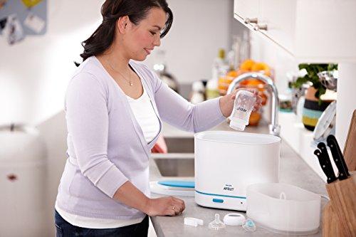 Philips dampfsterilisator sterilisator baby sfc284/02 3 flaschen x 330ml flaschen in 1-6 - 5