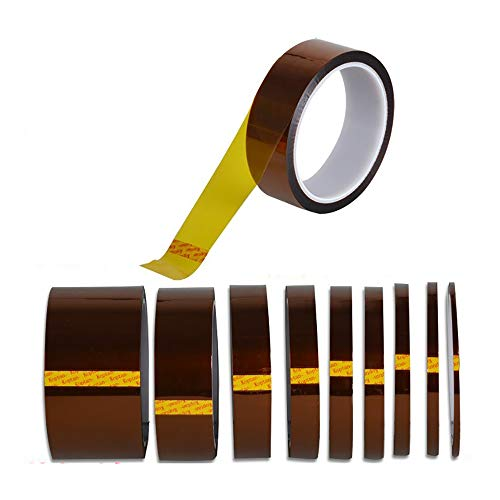 Broadpack high Temperature Kapton Tape Polyimide Film Tape 1/2 inch 12mm x 36Yard 4 Rolls for Masking,3D Printing,Electric Task,Soldering
