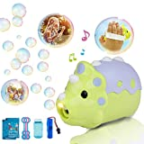 Bubble Machine Rechargeable Automatic Bubble Making Machine Portable Cute Dinosaur DV Bubble Maker Toys 1000 Bubbles per Minute Gifts Toys for 3 4 5 6+ Year Old Boys/Girls/Kids,Outdoors&Party&Wedding