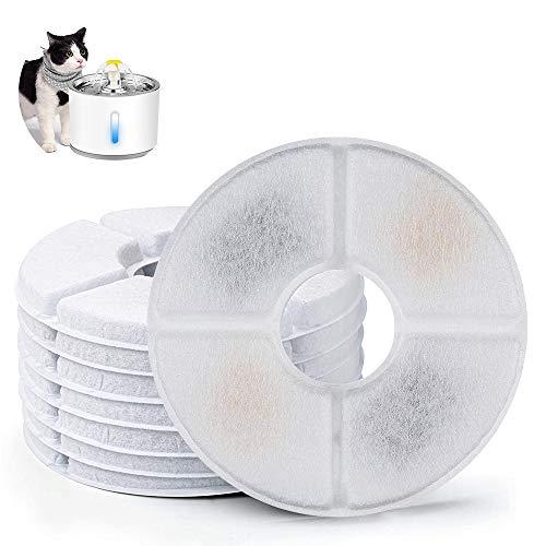 solawill Trinkbrunnen Ersatzfilter, Trinkbrunnen Filter mit Harz und Aktivkohle Blumentrinkbrunnen Filter für Katzen und Hunde (8 Packs)