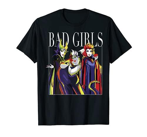 Disney Villains Bad Girls Watercolor Sketch Group Portrait T-Shirt