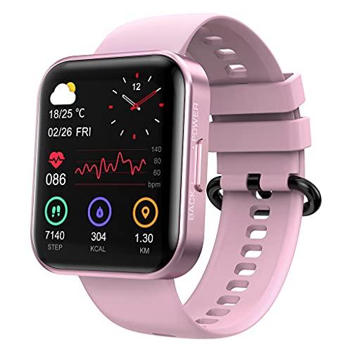 KOSPET Magic 3 Smartwatch de 1,71 pulgadas 3D curvado Smartwatch con pantalla táctil completa 20 modos deportivos, prueba de presión arterial de oxígeno sanguíneo real