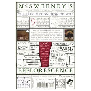 """McSweeney's Issue No. 9: """"We Feel This One Is More Urgent"""" - Book #9 of the McSweeney's Quarterly Concern"""