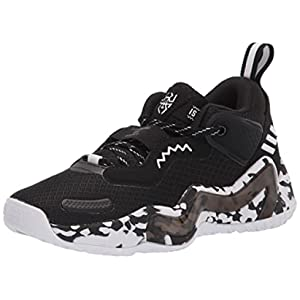adidas D.O.N. Issue 3 Basketball Shoe, Black/White/Black, 7 US Unisex Big Kid