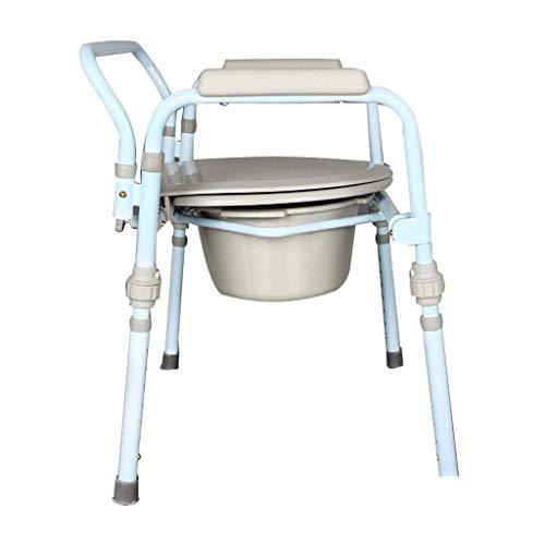 wheelchair Medizinischer Reha-Stuhl, Rollstuhl, Stuhl Bad Toilettensitz Zusammenklappbare schwangere Frauen Alter Mann Töpfchen Robuster wasserdichter Kohlenstoffstahl