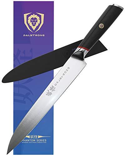 DALSTRONG Yanagiba Sushi Knife - 9.5' - Phantom Series - Japanese High-Carbon - AUS8 Steel - Pakkawood Handle - w/Sheath