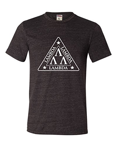 X-Large Charcoal Adult Lambda Lambda Lambda Tri Lambda Funny Triblend T-Shirt