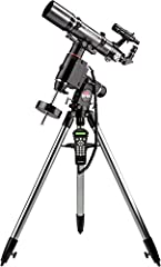 The Orion ED80 refractor's short focal length and superb apochromatic optics make it a great telescope for astrophotography and visual use The included Sirius EQ-G GoTo equatorial telescope mount and tripod supports the ED80 refractor with strength t...