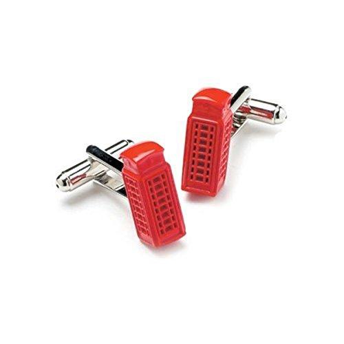Téléphone boxes-red boutons de manchette