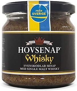 Hovdelikatesser Whisky Senf - extra scharf aus Schweden 185 g mit 12 Jahre altem Single Malt Whisky