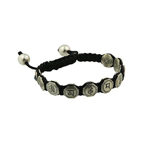 Buddhist Jewelry, Om Mani Padme Hum Tibetan Healing Mantra Adjustable Bracelet