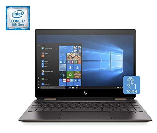 HP Spectre x360 13-ap0003ns - Ordenador portátil convertible táctil de 13.3' FullHD (Intel Core i7-8565U, 8GB RAM, 256GB SSD, Intel Graphics, Windows 10) color plata - Teclado QWERTY Español
