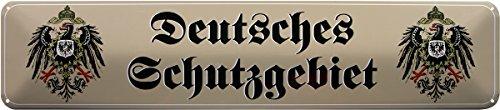 DEUTSCHES SCHUTZGEBIET REICH 46x10 BLECHSCHILD STRASSENSCHILD STR190