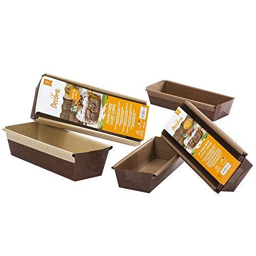 Decora 0320180 Stampo Plum Cake, Carta da Forno, Marrone, 300 g, 5 unità