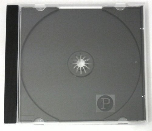 CD Single engordas estuches 5,2 mm bandeja negra (50)