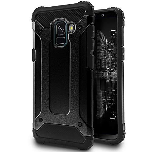 United Hülle Hülle für Samsung Galaxy A5/A8 2018 | 2 Teilig Hybrid Design | Outdoor Schwarz